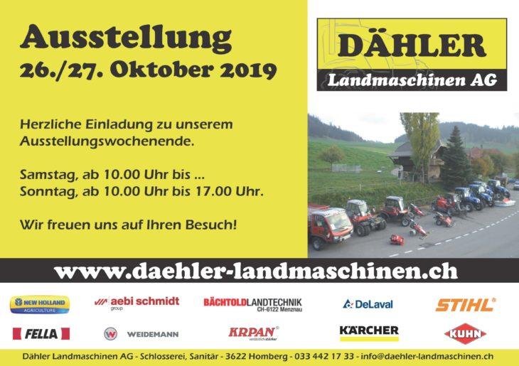 Flyer Ausstellung2019 Dähler