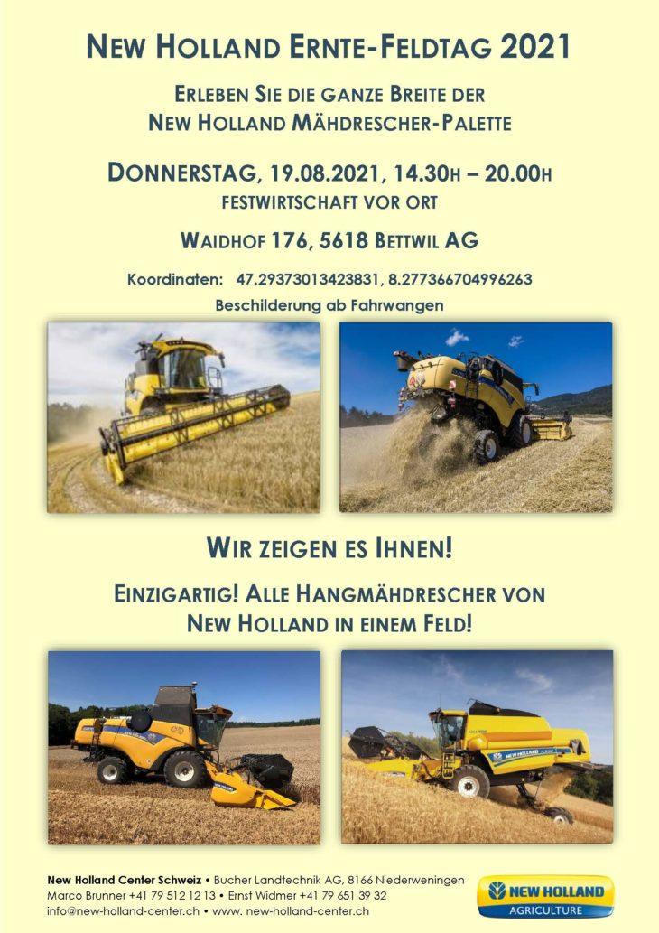 New Holland Ernte Feldtag 2021 19 08 14 30 20 00H