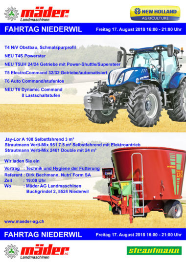 Flyer Fahrtag New Holland 2018 Maeder